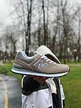 Кроссовки натуральная замша New Balance 574 Нью Беланс (41,42,43,44,45), фото 4