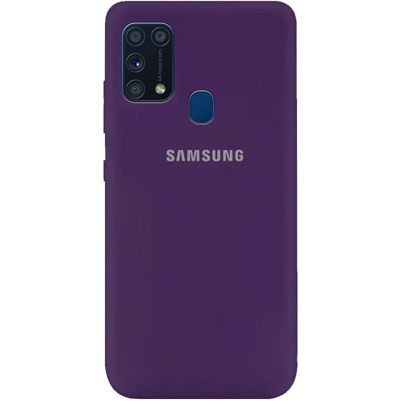 Силиконовый чехол для Samsung Galaxy M31 (SM-M315), My Colors, Purple, микрофибра внутри