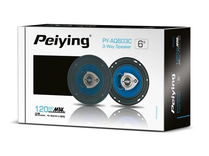 """Автомобільні динаміки 120 Вт 6"""" Peiying PYAQ603C"""