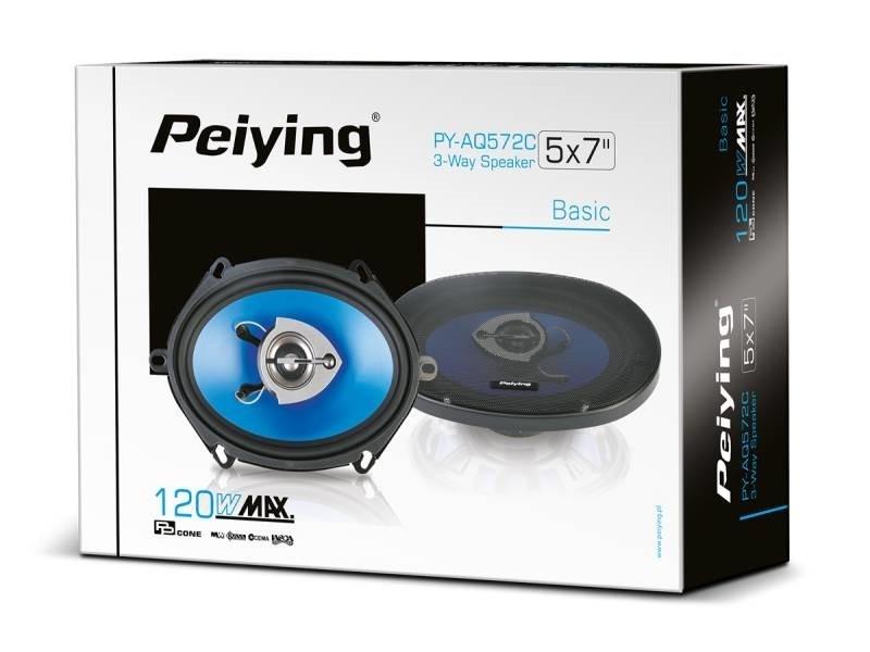 """Автомобільні динаміки 120 Вт 6""""х9"""" Peiying PYAQ572C"""