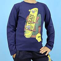 2023тсин Кофта с длинным рукавом для мальчика Скейт темно-синяя тм F&D размер 4,10 лет