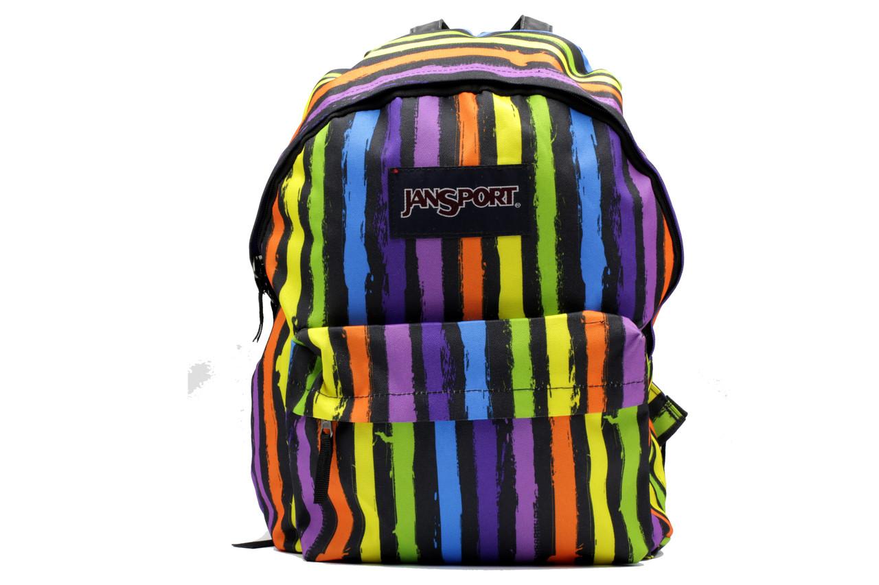 Городской яркий рюкзак из текстиля среднего размера унисекс