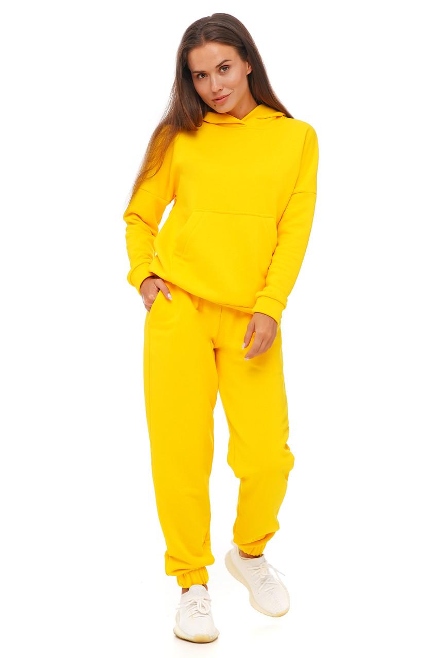 Лимонный костюм кофта и штаны