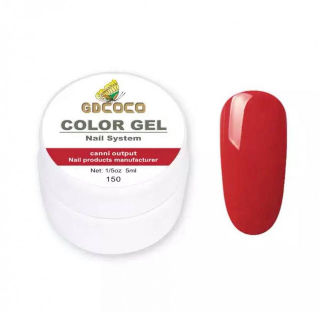 Гель-краска GDCoco Color Gel 150 Приглушенный красный 5 ml