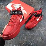 Мужские демисезонные кроссовки Nike Air Force 1 07 Mid LV8 (красные) KS 1115, фото 3