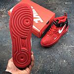 Мужские демисезонные кроссовки Nike Air Force 1 07 Mid LV8 (красные) KS 1115, фото 4