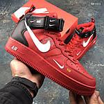 Мужские демисезонные кроссовки Nike Air Force 1 07 Mid LV8 (красные) KS 1115, фото 5