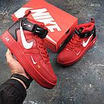 Мужские демисезонные кроссовки Nike Air Force 1 07 Mid LV8 (красные) KS 1115, фото 6