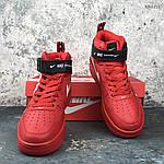 Мужские демисезонные кроссовки Nike Air Force 1 07 Mid LV8 (красные) KS 1115, фото 7