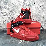 Мужские демисезонные кроссовки Nike Air Force 1 07 Mid LV8 (красные) KS 1115, фото 8