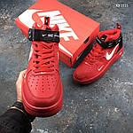 Мужские демисезонные кроссовки Nike Air Force 1 07 Mid LV8 (красные) KS 1115, фото 9
