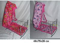 Кроватка-качалка с балдахином для кукол (Melogo 9342 (HT) металлическая)