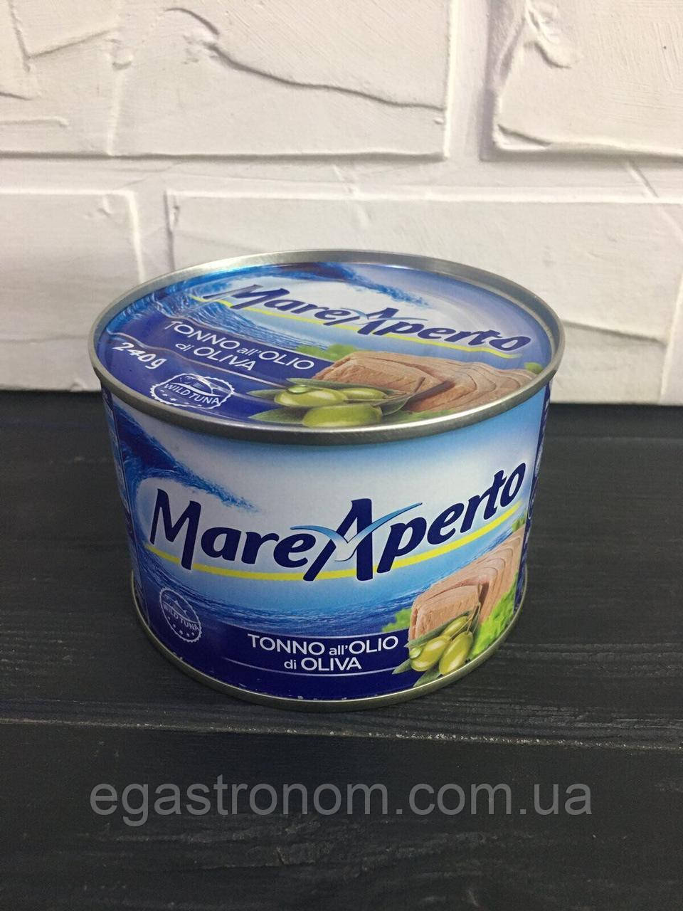 Тунець Маре Аперто в олив.олії Mare Aperto 240/156g 24шт/ящ (Код : 00-00003194)