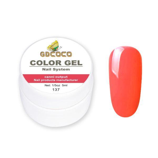 Гель-краска GDCoco Color Gel 137 Красно-розовый 5 ml