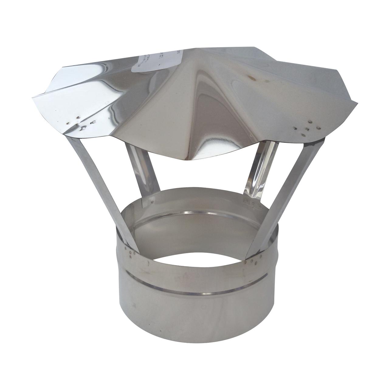 Грибок ø200 мм из нержавеющей стали AISI 304 для дымохода вентиляции дымоходный Версия-Люкс