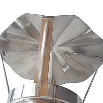 Грибок ø200 мм из нержавеющей стали AISI 304 для дымохода вентиляции дымоходный Версия-Люкс, фото 3