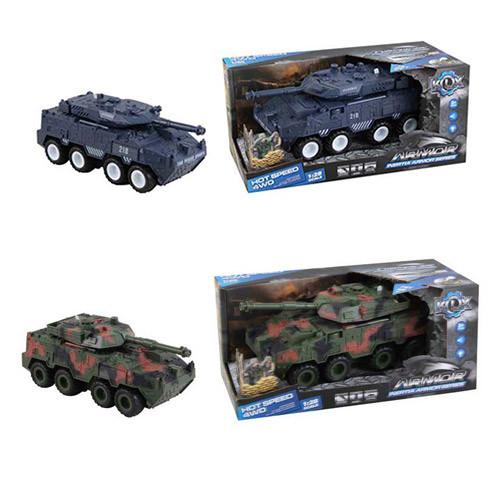Танк KLX700-7A-10A  инер-й, 24см,1:28см,звук,свет,2вида, на бат(табл), в кор-ке,30-13,5-15,5см