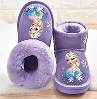 Дитячі уггі, дитяче зимове взуття / детская зимнняя обувь, Снежные сапоги для девочек, детская хлопковая обувь