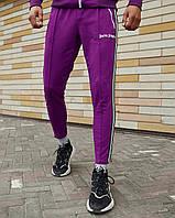 Спортивные штаны мужские в стиле Palm Angels фиолетовые, фото 1