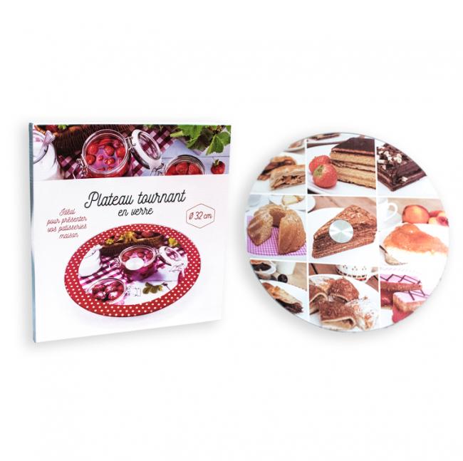 """Стеклянное блюдо для подачи десертов HLS """"Макаруны"""" 32 см (6847)"""