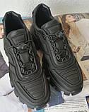 Кроссовки женские Prada Cloudbust Thunder черные, Прадо Клаундбуст кожа натуральная, фото 8