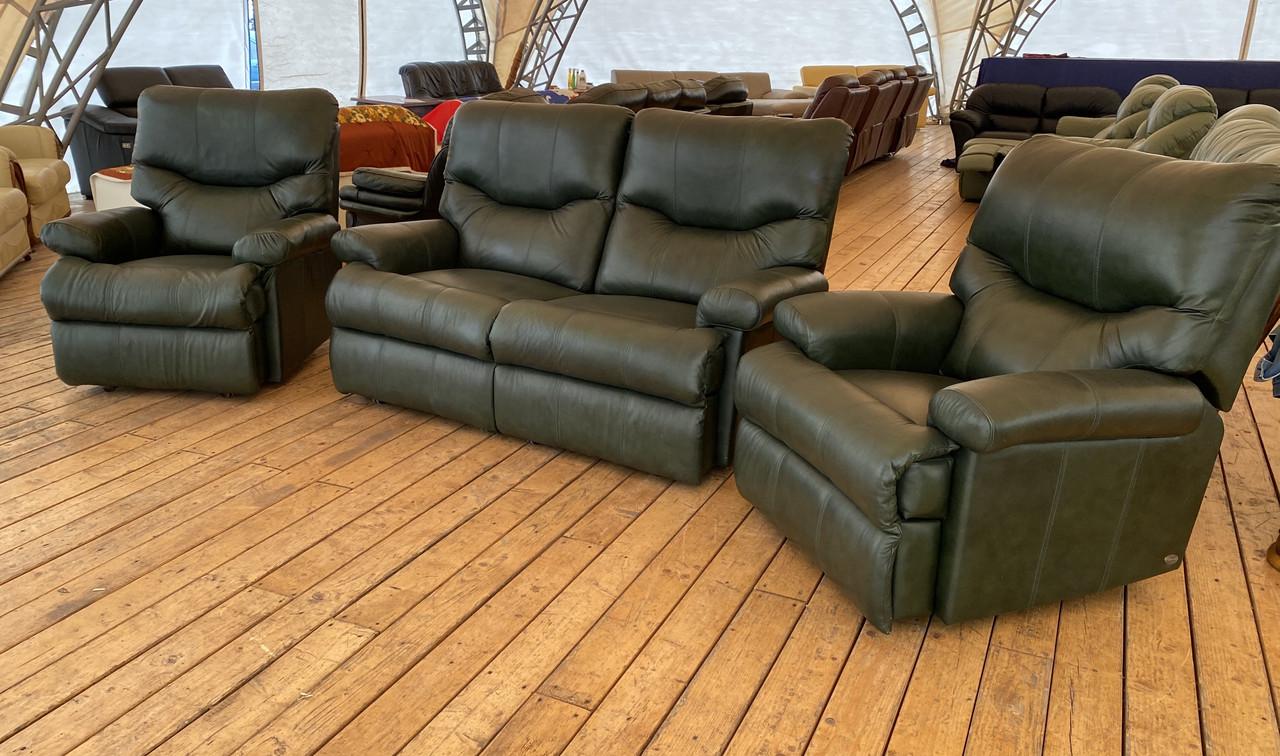 Кожаный диван реклайнер б/у из Германии без реставрации
