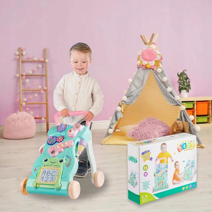 Детские интерактивные Ходунки толокар Baby Лягушонок (Mint)