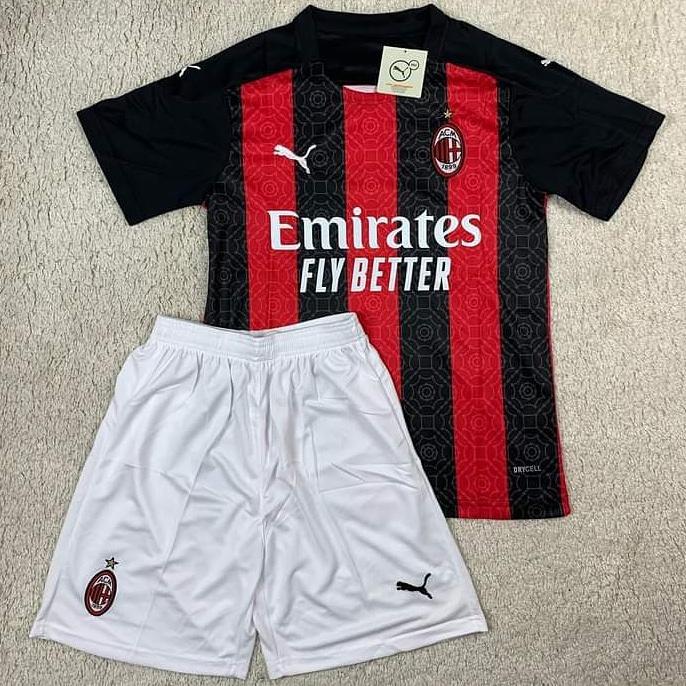Детская футбольная форма Милан сезон 2020-21