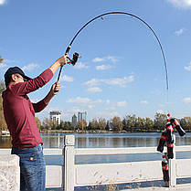 Спиннинг YMERBOR Fishing Of Catch 5-309 2.1м 5-35г Section: M/ML Безынерционная, фото 3