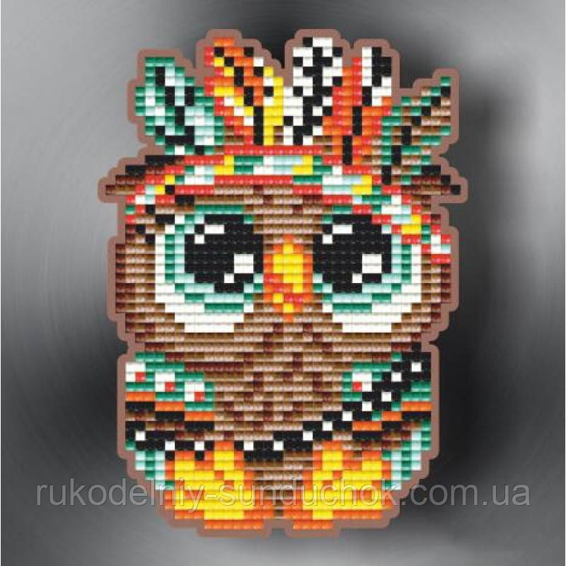 Набір алмазної вишивки (магніт) ТМ ArtSolo Совеня індіанець АТМ54