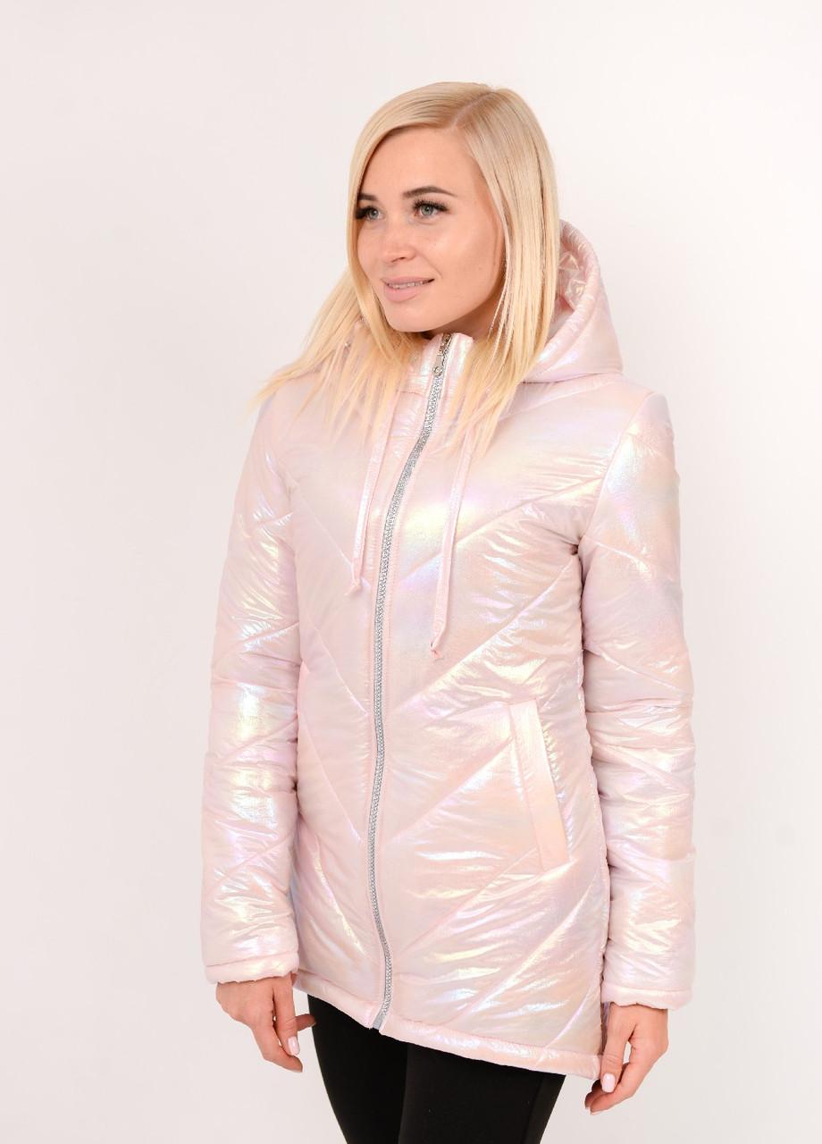 Женская куртка демисезонная розовая