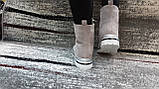 Стильні зимові жіночі черевики сіро-бежевого кольору, замшеві., фото 2