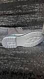 Стильні зимові жіночі черевики сіро-бежевого кольору, замшеві., фото 5