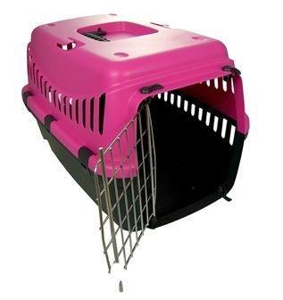 Пластиковая переноска для животных GIPSY 2, РОЗОВАЯ, металлическая дверь, 58х38х38 см до 12 кг