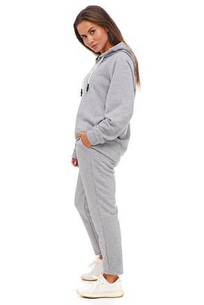 Серый спортивный  костюм оверсайз, фото 2