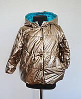 Теплая детская куртка для девочек 1-5лет, демисезонная весна осень, фото 1