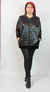 Турецкая женская лаковая жилетка больших размеров 58-64