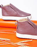 Женские зимние ботинки хайтопы Ankle slip сирень лак, фото 6