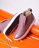 Женские зимние ботинки хайтопы Ankle slip сирень лак, фото 5