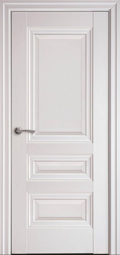 """Дверь межкомнатная глухая новый стиль Элегант """"Статус А ML2"""" 60,70,80,90 см с молдингом белый матовый"""