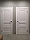 """Дверь межкомнатная глухая новый стиль Элегант """"Статус А ML2"""" 60,70,80,90 см с молдингом белый матовый, фото 6"""