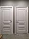 """Дверь межкомнатная глухая новый стиль Элегант """"Статус А ML2"""" 60,70,80,90 см с молдингом белый матовый, фото 7"""