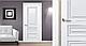 """Дверь межкомнатная глухая новый стиль Элегант """"Статус А ML2"""" 60,70,80,90 см с молдингом белый матовый, фото 8"""