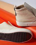 Женские зимние ботинки хайтопы Ankle slip молочный лак, фото 8