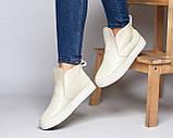 Женские зимние ботинки хайтопы Ankle slip молочный лак, фото 9