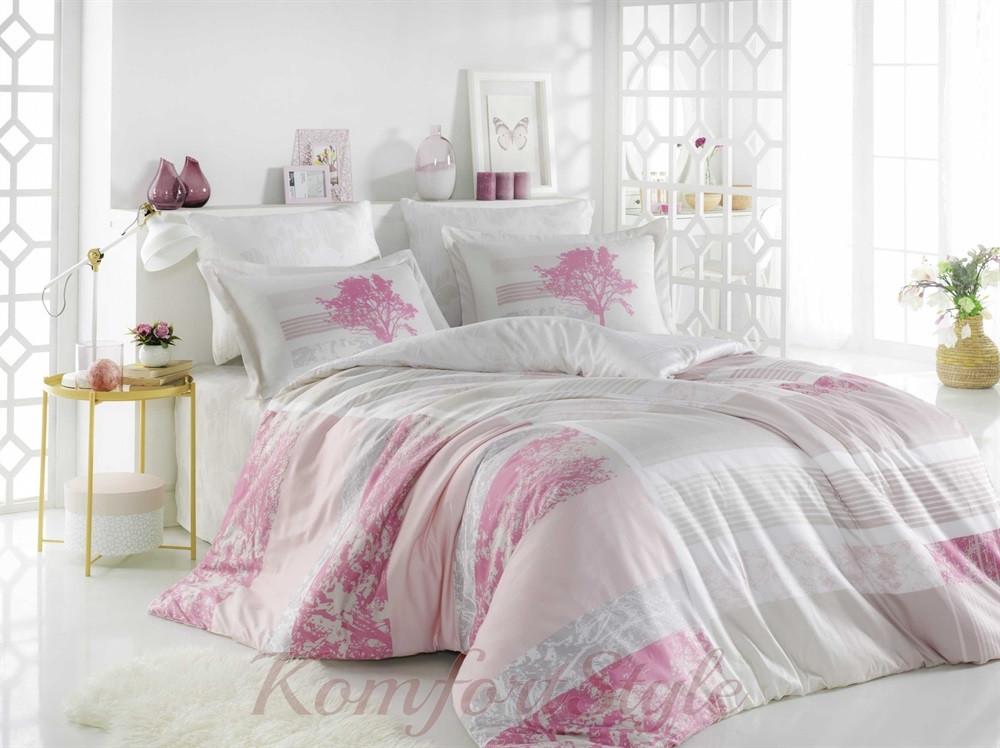 Комплект постельного белья HOBBY Exclusive Sateen Elsa розовый 200*220/4*50*70
