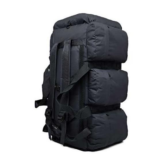 Сумка-рюкзак транспортная дорожная универсальная на 90л RealTactic Черная