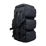 Сумка-рюкзак транспортная дорожная универсальная на 90л RealTactic Черная, фото 1