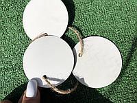 Картонные белые бирки, круг 65мм