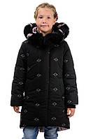 Зимняя стеганная курточка для девочки 116-140 рост